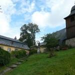 Kryštofovo údolí, kostel a fara