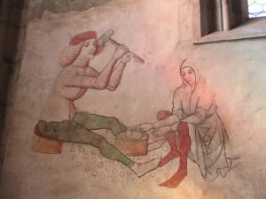 Chrám sv. Barbory, fresky