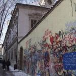 Praha, zeď Johna Lennona