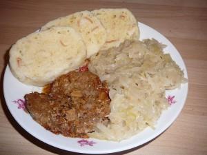 Praha - jídlo, vepřo-kedlo-zelo