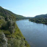 Pohled ze zbraslavského mostu