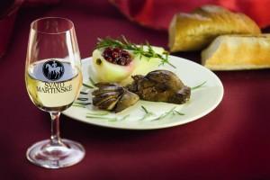 Husí játra a svatomartinské víno