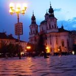 Kostel sv. Mikuláše v noci