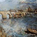 Pohled na Karlův most, Oskar Kokoschka