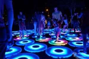 Praha, festival světla Signal, The Pool, Jen Lewin Studio