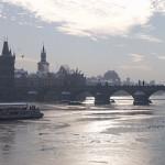 Praha, Karlův most, zima