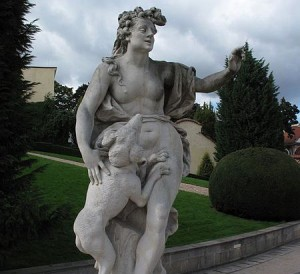 Vrtbovská zahrada - socha Diany