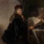 Učenec v pracovně, Rembrandt van Rijn