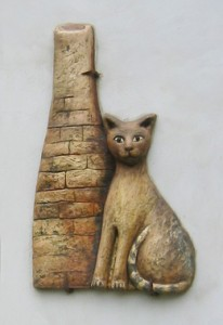 U kočky za komínem